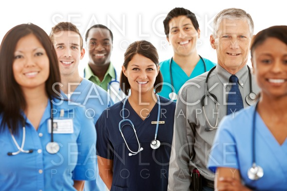 Doctors: Multi-Ethnic Group of Physicians Stock Photography Content by Sean Locke