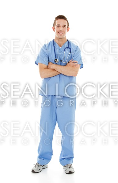 Doctors: Young Male Physician Stock Photography Content by Sean Locke