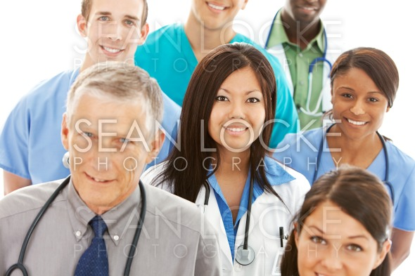 Doctors: Asian-American Physician with Others Stock Photography Content by Sean Locke