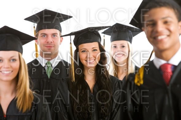Graduation: Crowd of Cheerful Graduates Stock Photography Content by Sean Locke