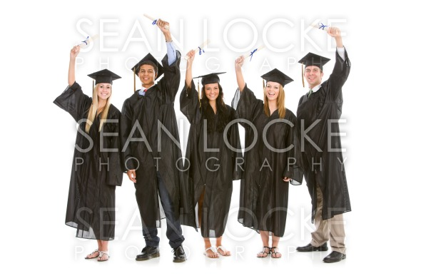 Graduation: Graduates Ready to Go Out into the Real World Stock Photography Content by Sean Locke