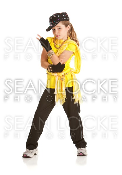 Dancer: Girl Dressed in Hip Hop Dance Costume Stock Photography Content by Sean Locke