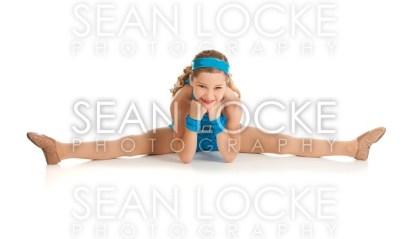 Dancer: Dancer Does Straddle Split to Stretch Stock Photography Content by Sean Locke