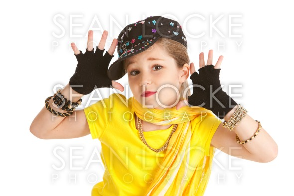 Dancer: Hip Hop Dancer Makes Jazz Hands Stock Photography Content by Sean Locke