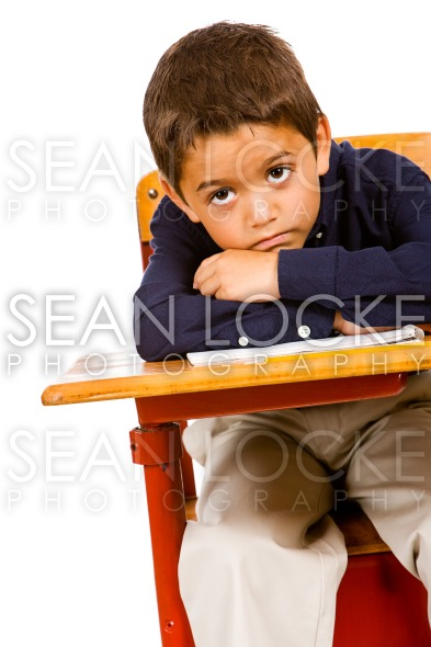 Student: Bored Student At Desk Stock Photography Content by Sean Locke