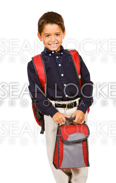 Student: Boy with Lunchbox Stock Photography Content by Sean Locke