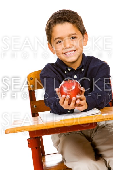 Student: With an Apple for Teacher Stock Photography Content by Sean Locke