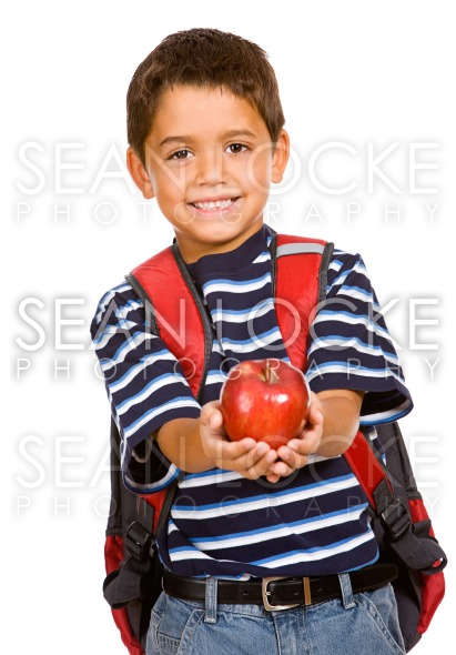 Student: Young Student Holds Apple Stock Photography Content by Sean Locke