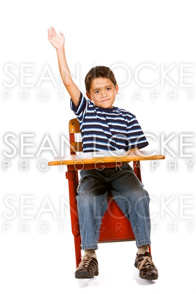Student: Boy Has Answer to Question Stock Photography Content by Sean Locke