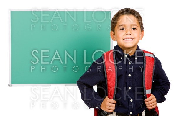 Student: Boy Standing In Front of Blank Chalkboard Stock Photography Content by Sean Locke