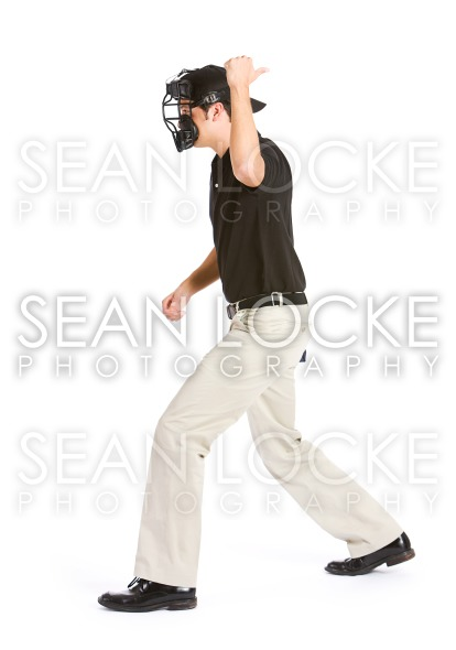 Baseball: Player is Called Out By Umpire Stock Photography Content by Sean Locke