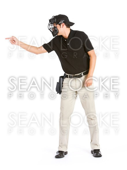 Baseball: Umpire Calls a Strike Stock Photography Content by Sean Locke