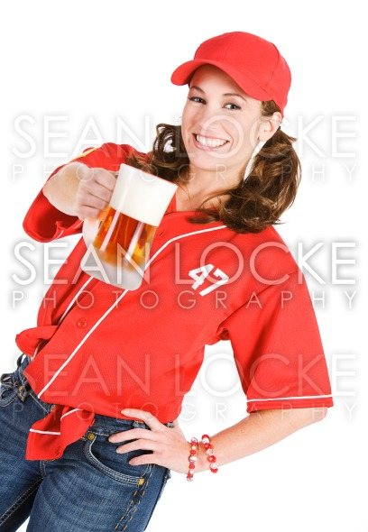 Baseball: Having a Frosty Mug of Beer Stock Photography Content by Sean Locke
