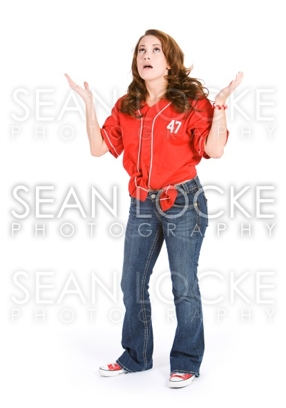 Baseball: Woman Upset at Team Losing Stock Photography Content by Sean Locke