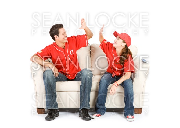 Baseball: Team Winning High Five Stock Photography Content by Sean Locke