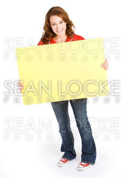 Baseball: Baseball Fan with Blank Sign Stock Photography Content by Sean Locke