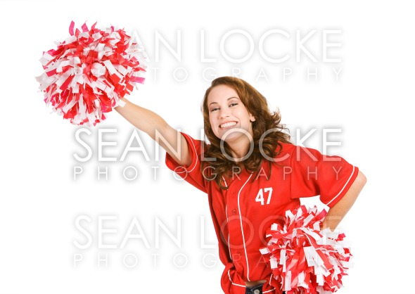Baseball: Excited Fan Cheering Team Stock Photography Content by Sean Locke