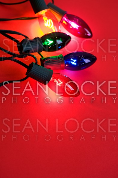Christmas: Colorful, Holiday Christmas Lights Stock Photography Content by Sean Locke