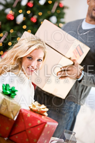 Christmas: Ready To Ship Packages Stock Photography Content by Sean Locke