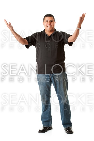 Casual: Man with Hands Up Stock Photography Content by Sean Locke