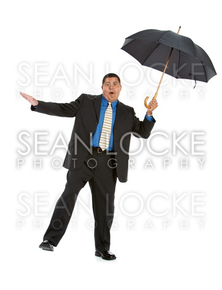 Businessman:  Trying to Stay Balanced Stock Photography Content by Sean Locke