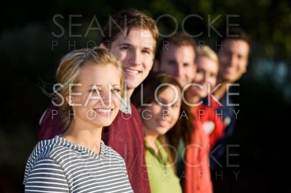 Football: Group of Friends Looking at Camera Stock Photography Content by Sean Locke