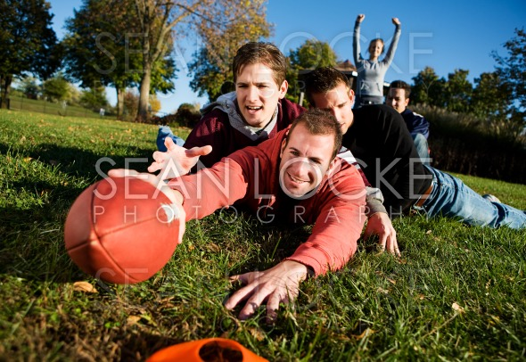 Football: Tackled Guy Tries for Touchdown Stock Photography Content by Sean Locke
