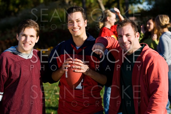 Football: Guy Friends Ready to Play Stock Photography Content by Sean Locke