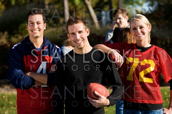 Football: Group of Football Friends Ready to Play Stock Photography Content by Sean Locke