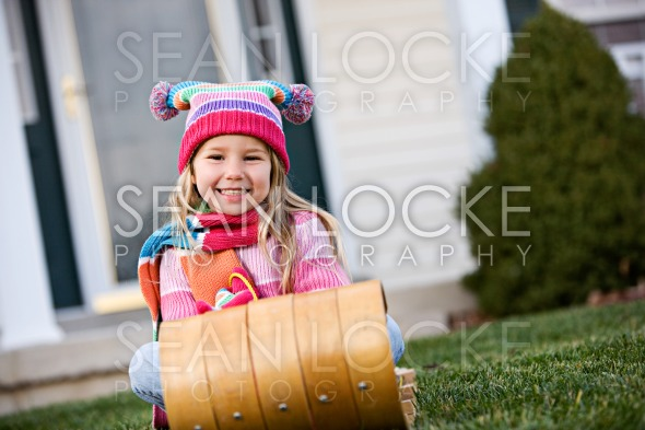 Winter: Little Girl Ready For Snow Stock Photography Content by Sean Locke