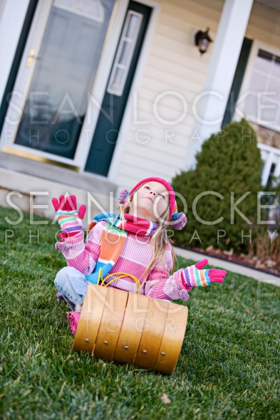 Winter: Wishing For Snow For Sledding Stock Photography Content by Sean Locke