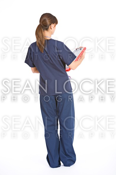 Nurse: Rear View of Doctor Stock Photography Content by Sean Locke