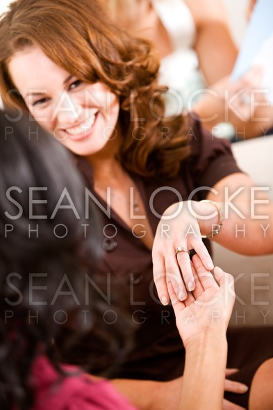 Bridal Shower: Woman Shows Off Engagment Ring Stock Photography Content by Sean Locke