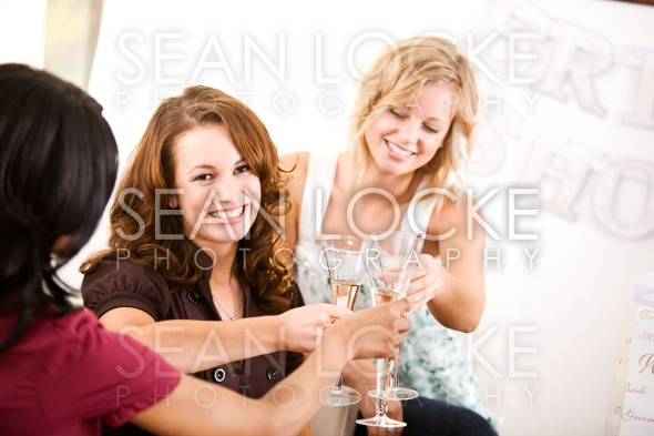 Bridal Shower: Friends Toast Bride Stock Photography Content by Sean Locke