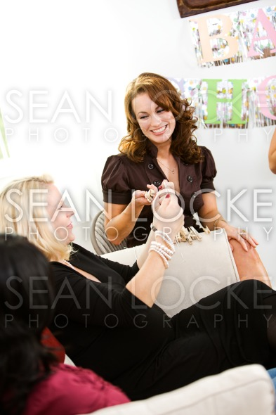 Baby Shower: Clothepin Game Stock Photography Content by Sean Locke