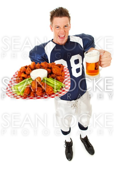 Football: Yelling About Chicken Wings and Beer Stock Photography Content by Sean Locke