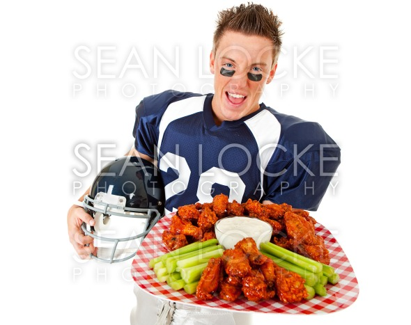 Football: Ready To Eat Chicken Wings Stock Photography Content by Sean Locke