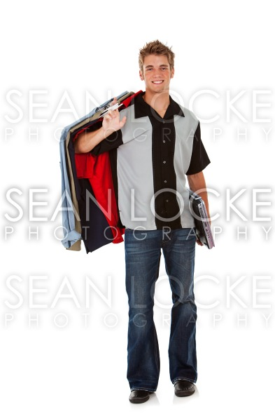 Student: Male Teen Heading to College Stock Photography Content by Sean Locke