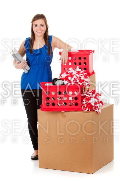 Student: Female Ready to Head to College Stock Photography Content by Sean Locke
