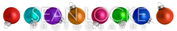 Christmas: Christmas Ornaments In All Colors Stock Photography Content by Sean Locke