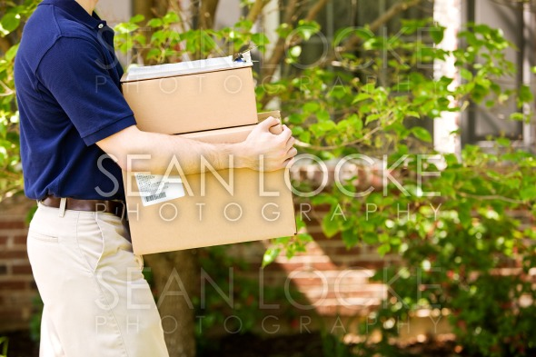 Delivery: Taking Packages to Front Door Stock Photography Content by Sean Locke