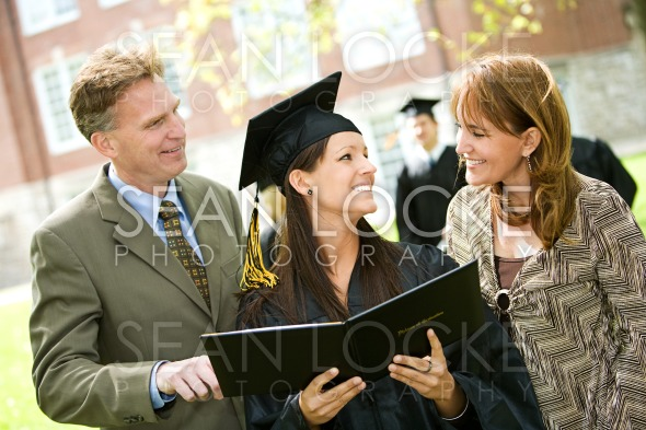 Graduation: Family Proud of Daughter Stock Photography Content by Sean Locke