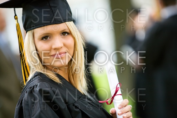 Graduation: Serious Graduate Ready for Future Stock Photography Content by Sean Locke