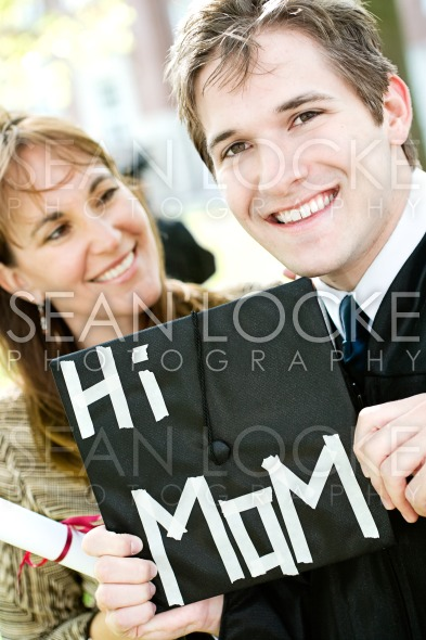 Graduation: Mom Proud of Son Graduate Stock Photography Content by Sean Locke