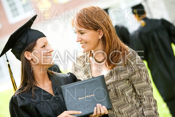 Graduation: Mother Proud of Daughter Graduate Stock Photography Content by Sean Locke