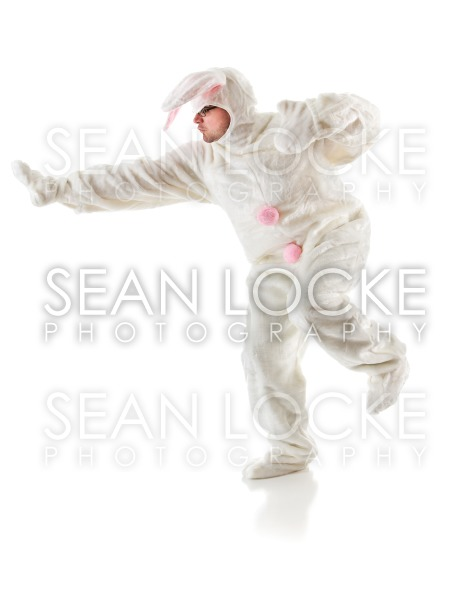 Bunny: Man Poses Like Famous Football Award Stock Photography Content by Sean Locke