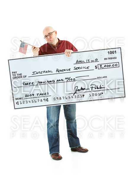 Check: Man Upset About Taxes Stock Photography Content by Sean Locke