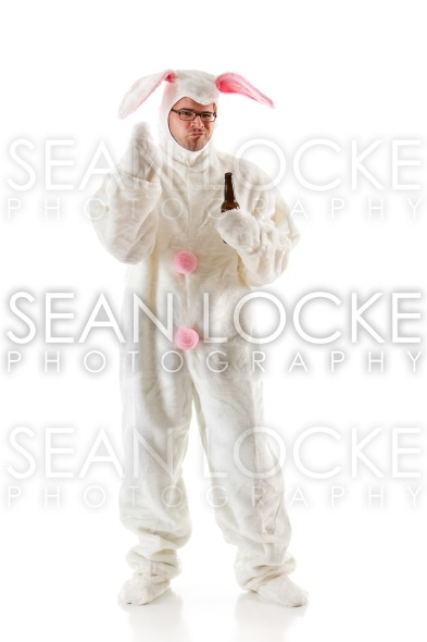 Bunny: Rabbit Man Makes Rude Gesture Stock Photography Content by Sean Locke