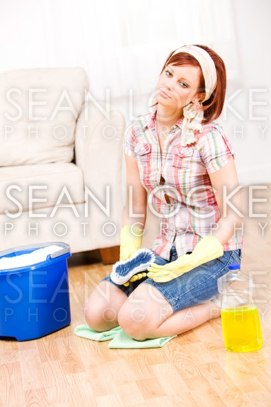 Cleaning: Tired of Spring Cleaning Stock Photography Content by Sean Locke