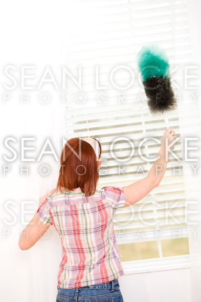 Cleaning: Dusting Window Blinds Stock Photography Content by Sean Locke